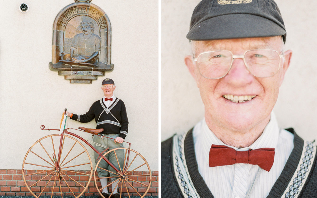 Pete, the veteran cyclist gentleman.