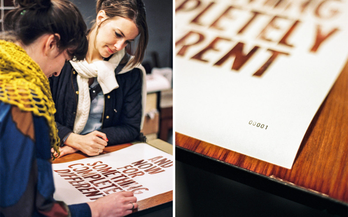 The Smell of Letterpress.