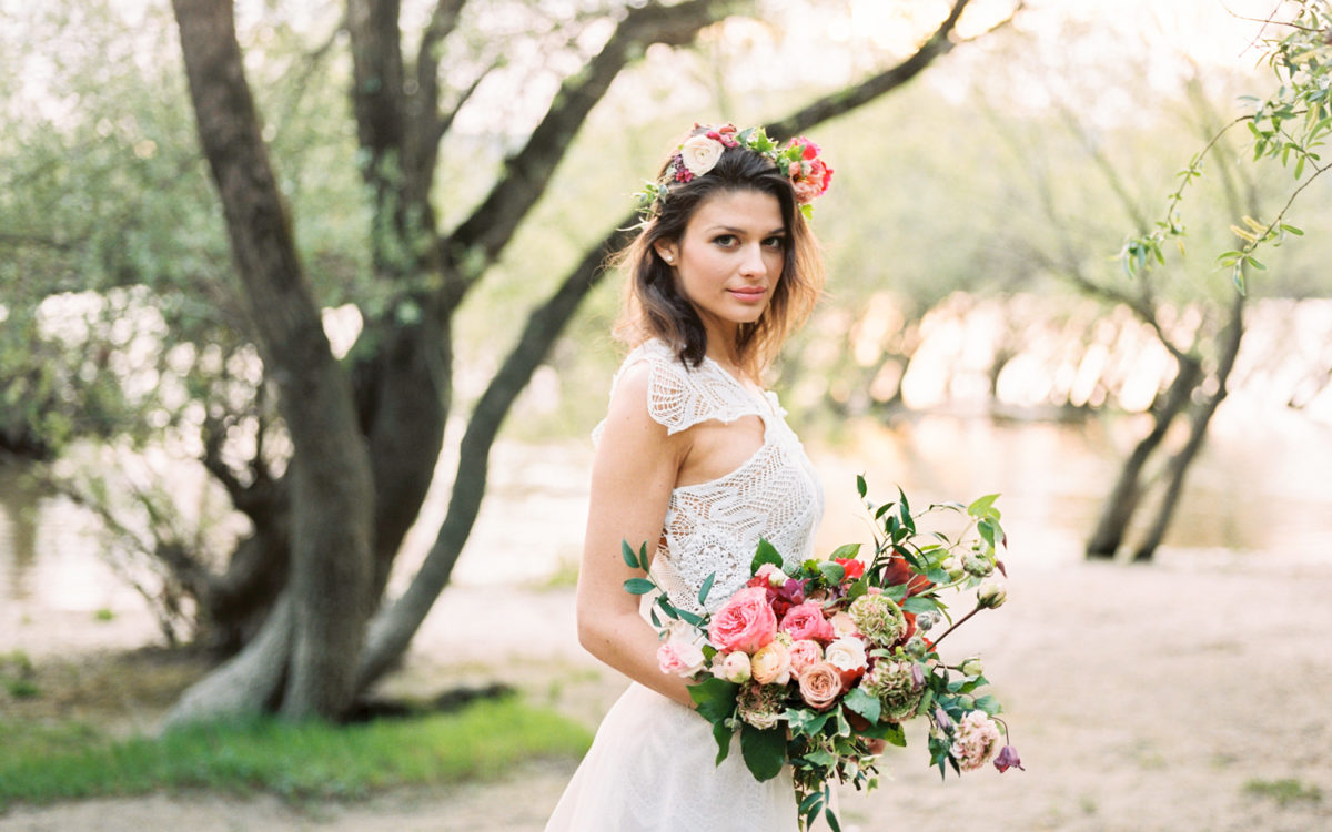Mellow riverside bridal inspiration